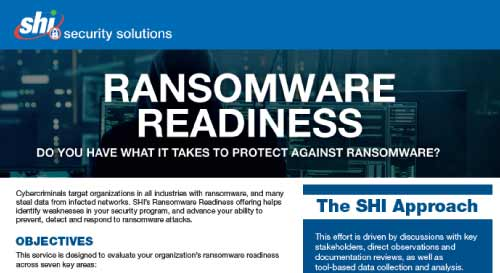 Ransomware Readiness Data Sheet