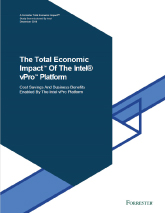 The Total Economic Impact of the Intel vPro Platform Cover Image
