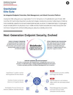 Bitdefender GravityZone Datasheet PDF Image