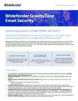 Bitdefender NGZ EmailSecurity Datasheet PDF Image