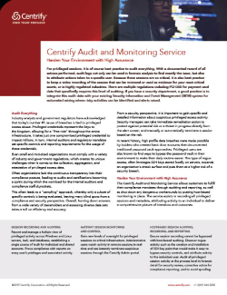 Audit and Monitoring Service Thumbnail