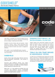 Codeshield Disinfectant Ready Plastics Datasheet