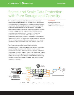 Cohesity and Pure Storage Thumbnail