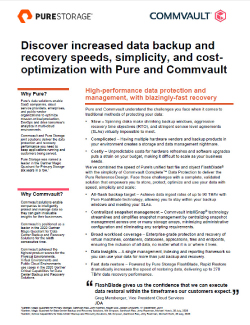 Backup & Recovery – Commvault & Pure Image
