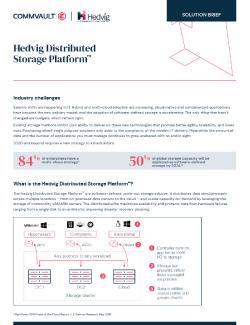Hedvig Distributed Storage Platform Solution Brief Thumbnail