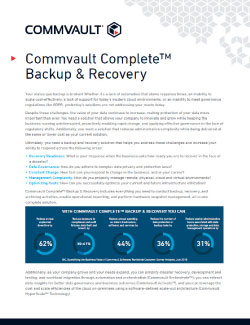Commvault Complete™ Backup & Recovery Datasheet Thumbnail