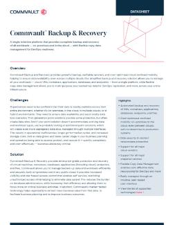 Backup & Recovery - Datacenter Image