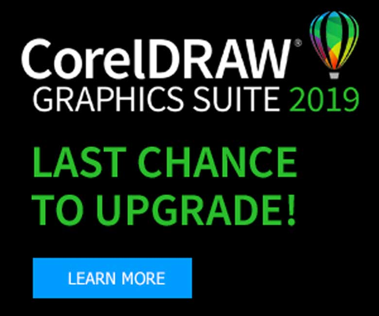 CorelDraw Upgrade Banner