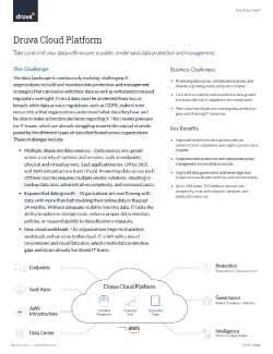 Druva cloud platform Thumbnail