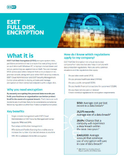 ESET Full Disk Encryption – Product Brief Thumbnail
