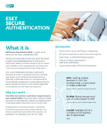 ESET Secure Authentication– Product Brief Thumbnail
