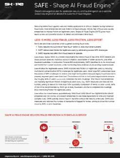 Shape AI Fraud Engine Product Datasheet Thumbnail
