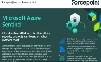 Microsoft Azure Sentinel Integrates with Forcepoint DLP  Thumbnail