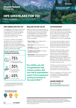 HPE GreenLake VDI – Rapid Assessment Thumbnail