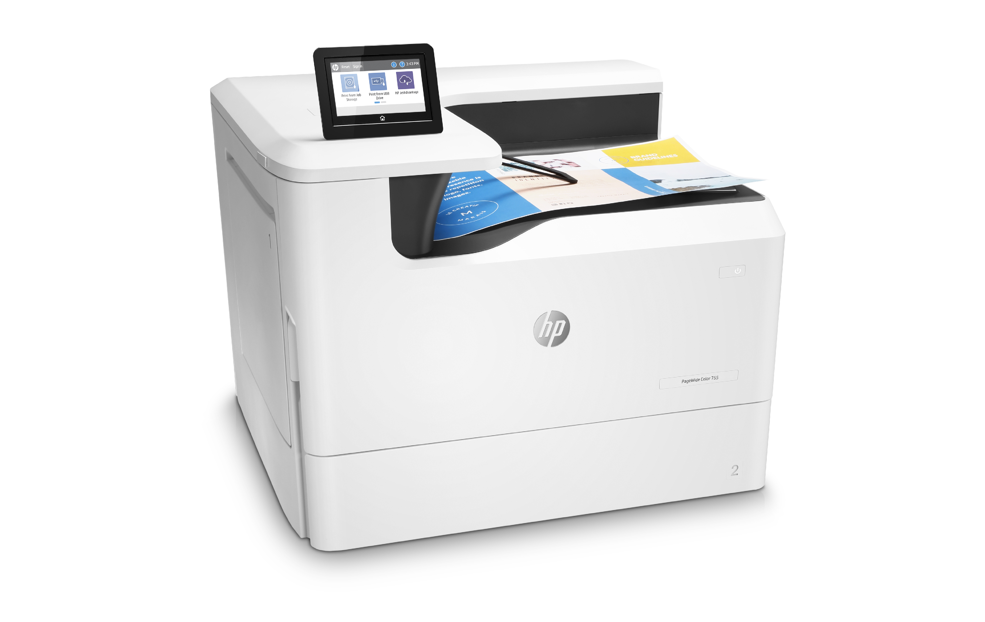 with HP Pagewide Color 755