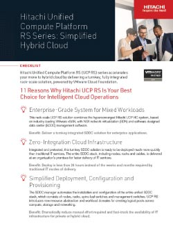 Converged - Hitachi Unified Compute Platform RS Series: Simplified Hybrid Cloud PDF Thumbnail
