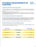 Top 10 Cloud Strategy FAQs PDF Thumbnail