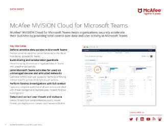 MVISION Cloud for Microsoft Teams