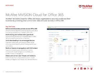 MVISION Cloud for Office 0365