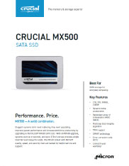 Crucial MX500 Product Flyer Image
