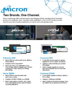 Micron/Crucial Product Family Guide Image