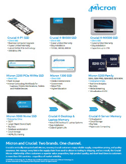 Micron/Crucial Product Family Guide Thumbnail