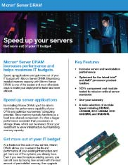 Micron Server DRAM Product Flyer Image