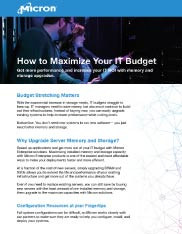 How to Maximize your IT Budget Thumbnail