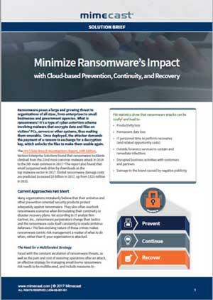 Minimize Raonsomware's Impact