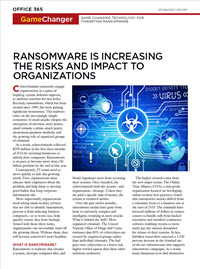 Ransomeware Risks and Impacts