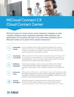 MiCloud Connect CX Contact Center Overview Thumbnail