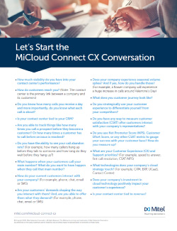MiCloud Connect CX Conversation Thumbnail