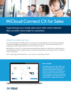 MiCloud Connect CX Sales Thumbnail