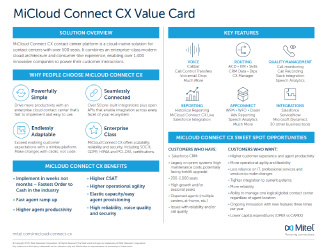 MiCloud Connect CX Value Card Thumbnail