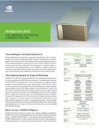 Nvidia DGX A100 Solution Brief Thumbnail