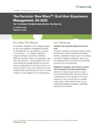 Nexthink Lands Atop Forrester's Wave Report Thumbnail