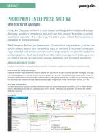 Enterprise Archive Data Sheet