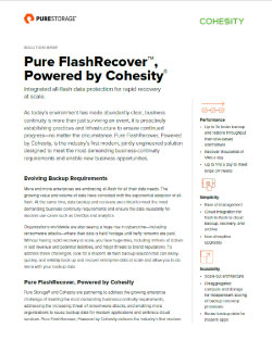 Backup and Recovery with FlashRecover, Powered by Cohesity Thumbnail