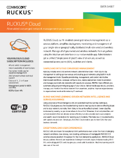 Ruckus Cloud Data Sheet Thumbnail