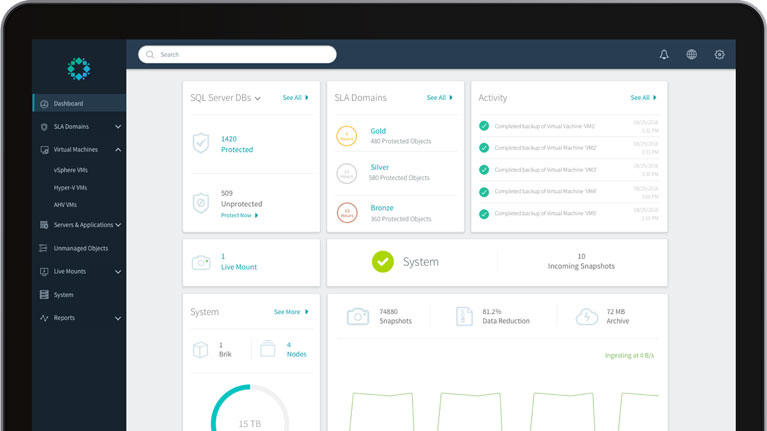 Cloud Data Management Screen