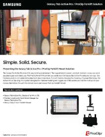 Galaxy Tab Active Pro ProClip Forklift Solution Image