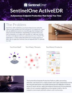 SentinelOne ActiveEDR