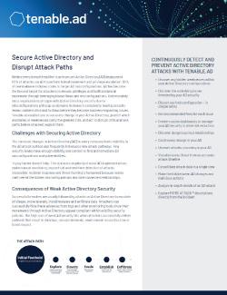 Tenable.ad Data Sheet Image