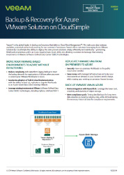 Backup & Recovery Solution Brief