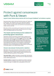 Pure Storage and Veeam Ransomware Solution Brief