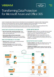 Transforming Data Protection for Microsoft Azure and Office 365
