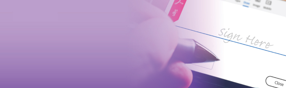 Adobe Sign Banner