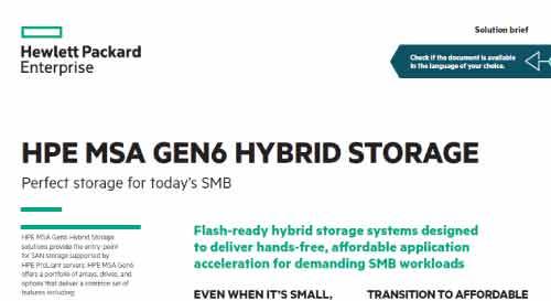 HPE MSA Gen6 Hybrid Storage