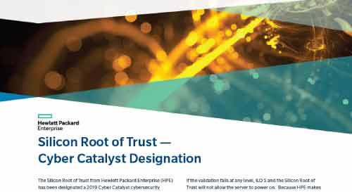 HPE Silicon Root of Trust is a Cyber Catalyst-Designated Solutions