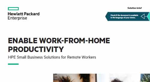 Enable Work From Home (WFH) Productivity